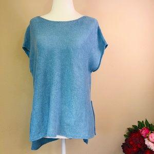 Eileen Fisher Linen Knit Top XS